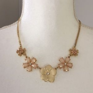 Jewelry - Flower Necklace with Gold Tone Chain